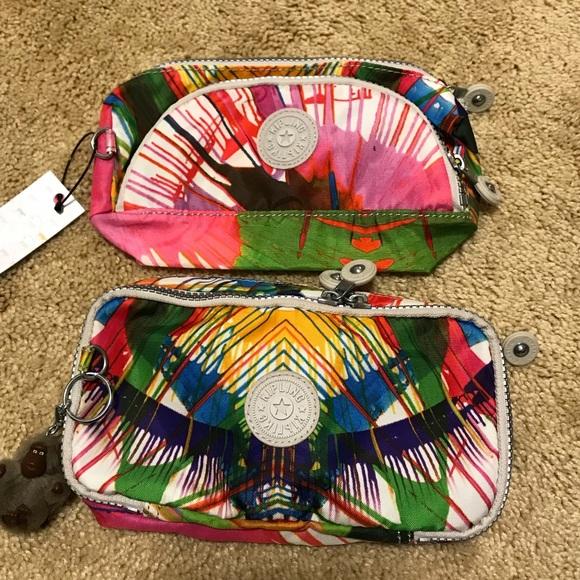 15ea8f498a6 Kipling Handbags - Kipling Pouch Set Beach Print-Cute Pouch/Pen Case
